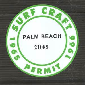A symbol of the disintegrating relationship between surfers and surf life savers - the registration stickers surfers would have to buy from the surf clubs.