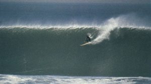 "Mark ""Doc"" Renneker - big wve surfing hippy of Ocean Beach San Francisco."